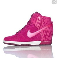 NIKE Hidden Heel Charm High Boots Height Increasing Women Sneakers Shoes ROSES-1