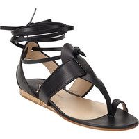Persica T-Strap Ankle-Wrap Sandals
