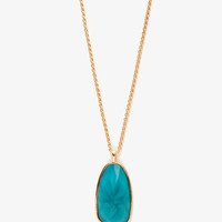 Faux Gemstone Pendant Necklace