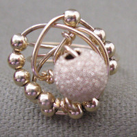 Gold Filled Wire Wrapped Bead Ring Unique Original Design