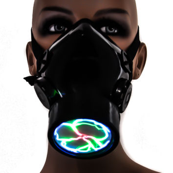 Plasma Light Cosplay Respirator Gas Mask with Sound Activated