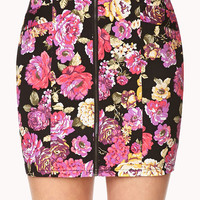 Throwback Floral Mini Skirt