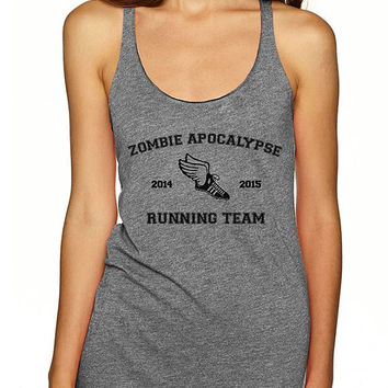 Zombie Apocalypse Running Team Tank. The Walking Dead. Fitness Tank. Workout Tank. Workout Top. Gym Tank. Fitness Inspiration