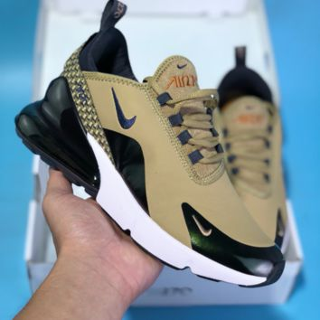 KUYOU N613 Nike Air Max 270 TPU Fly Running Shoes Brown
