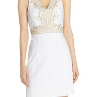 Lilly Pulitzer® 'Aveline' Embroidered Cotton Sheath Dress | Nordstrom