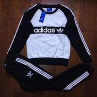 """Adidas"" Top Pullover Sweatshirt Pants Trousers Set Two-Piece"