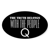 QANON TRUTH BELONGS WITH THE PEOPLE STICKER
