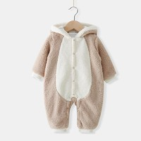 Newborn Baby Clothes Baby Boy Romper Infantil Baby Winter Clothes Conjoined Clothing Rabbit Thick Clothes For Newborns