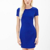 FOREVER 21 Textured Sheath Dress Royal