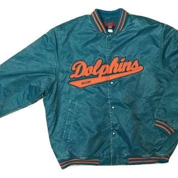 RARE Authentic Vintage Reebok Miami Dolphin NFL jacket Jersey Coat Men Women Clothing