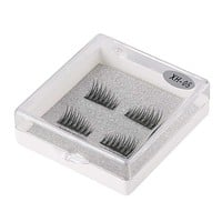 4pcs/box 3D Handmade Single Magnetic False Eyelashes Fake Lashes Extension Reusable Easy to Apply Ultra Thin Soft Comfortable Macchar Cosplay Catalogue