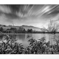 """Windy Clouds At The Lagoon"" BW by Guido Montañés"