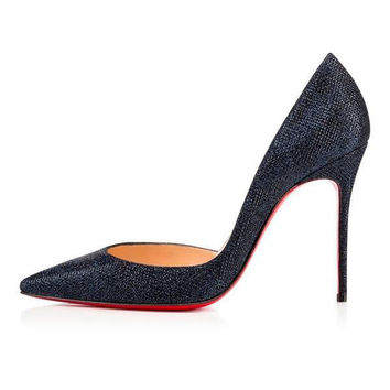 Midnight Stiletto Red Bottom Pumps