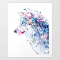 Wolf Art Print by NKlein Design