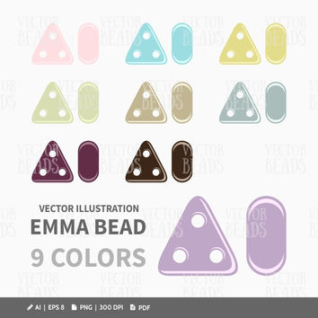 Emma Beads Clip Art Set - Beads Vector Graphic - ai, eps, png, pdf