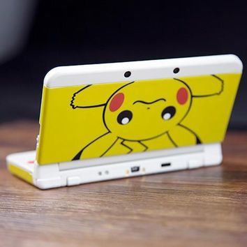 Glossy Protector Cover Plate Case Housing Shell for  Pikachu Case for Nintendo NEW 3DS ConsoleKawaii Pokemon go  AT_89_9
