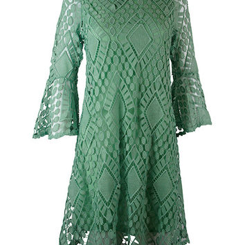 Judith March Classically Crocheted Dress