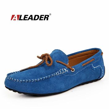 Fashion Suede Leather Men's Loafers Formal Shoes New Autumn Slip On Loafers for Man Flats Mens Driving Shoes