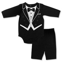 Baby Essentials Set, Baby Boys Tuxedo 2-Piece Bodysuit and Pants - Kids Baby Boy (0-24 months) - Macy's