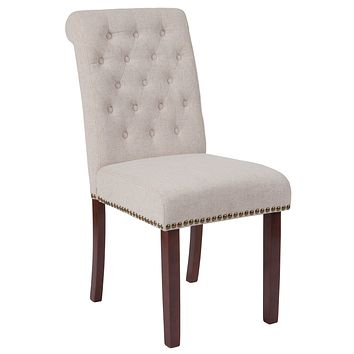 Series Parsons Chair with Rolled Back, Nail Head Trim