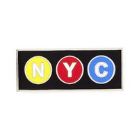 NYC Subway Sign Pin