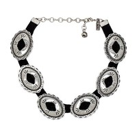 Vanessa Mooney Charlotte Mae Choker in Metallic Silver