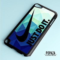 Nike Just Do It Blue Polygon iPod Touch 5 Case