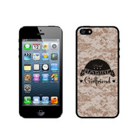 Proud Marine Girlfriend 1 Camo iPhone 5 Case - For iPhone 5/5G - Designer TPU Case Verizon AT&T Sprint