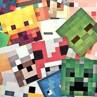 Minecraft character faces sticker pack from Stickerama