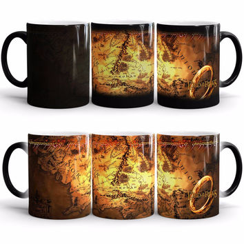 The Lord of The Rings Coffee Mug Mark Color Changing Cup Sensitive Ceramic Tea La Copa Friends Gift