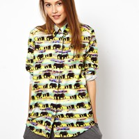 ASOS Africa Shirt In Elephant Print