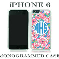Monogram iPhone 6 Case Personalized Phone Case iPhone 6 Plus Lilly Pulitzer Inspired Monogrammed iPhone 6 Case, Iphone 6 Case #2020