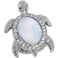 Mother of Pearl Turtle Stretch Ring   Body Candy Body Jewelry