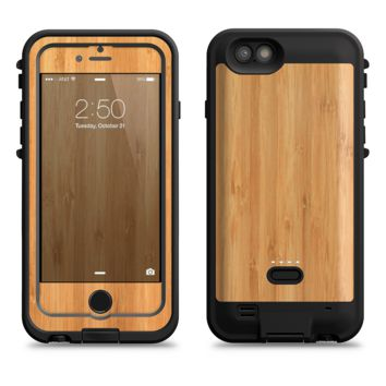 The Light Bamboo Wood  iPhone 6/6s Plus LifeProof Fre POWER Case Skin Kit
