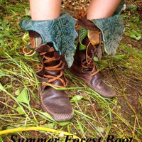 Mid-Calf Buffalo Hide Forest Boot