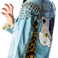 UNIF Cat Denim Jacket