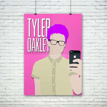 Tyler Oakley Vector - Pink, Blue, Green, Red, Yellow - A3 Size Artwork, (Instant Download) , 300 dpi, Awesome Design Printing, Youtubers
