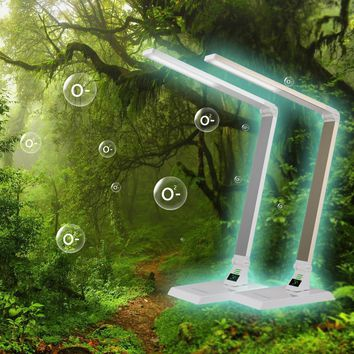 BIG Selling 6 Levels Dimmable Touch Table Lamps Foldable Multifunction LED Desk Lamp With Anionizer air purifier