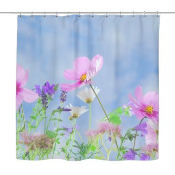 Wild Flowers Shower Curtain