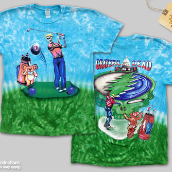 Grateful Dead Golfer Tie Dye Mens T-Shirt