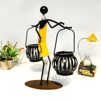 Iron Romantic Decoration Candle Stand [6282990406]