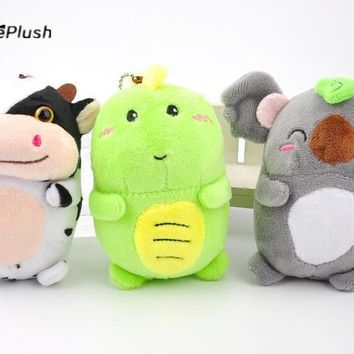 NEW Kawaii 3 Animals - COW , Dragon , Koala Plush Stuffed TOY DOLL , 12cm approx. key chain Gift plush toys