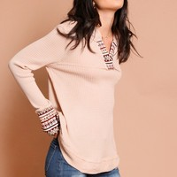 Dahlia Embroidery Thermal Top | Threadsence