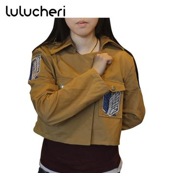 Cool Attack on Titan Japanese Anime  no  Survey Corps Jacket Eren Jaeger Cosplay Halloween Costume Coat AT_90_11