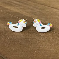 Unicorn Floatie Earrings