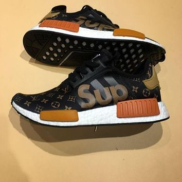 LV Louis Vuitton Supreme Adidas NMD R1 Boost Women Men Trending Sport Casual Shoes Sneakers Running Shoe I