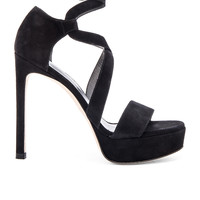 Stuart Weitzman Streamer Heel in Black
