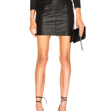 LAUREL & MULHOLLAND You're No Good High Waist Mini Skirt in Black | FWRD