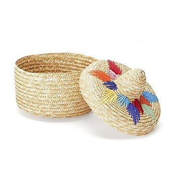 Two's Company Basket and Lid Tortilla Holder