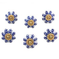 Novica Handpainted Cabinet Ceramic Flower Novelty Knob | Wayfair